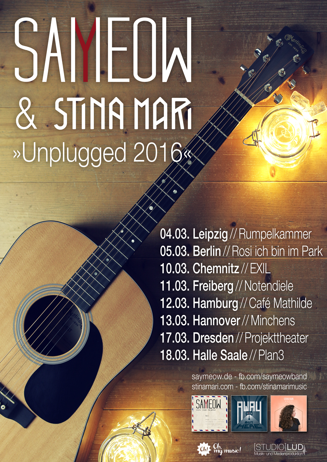 Plakat unplugged Tour